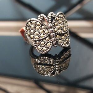 Jewelry - Swiss Marcasite Butterfly Ring